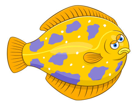Cartoon flounder Illustration