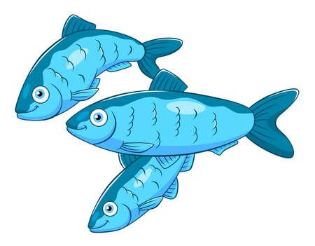 Cartoon trois harengs Vecteurs