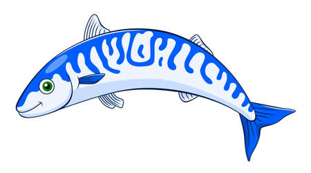 Cartoon cute mackerel