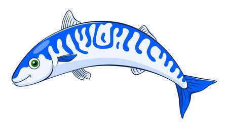 mackerel: Cartoon cute mackerel