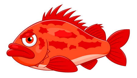 displeased: Cartoon ocean perch