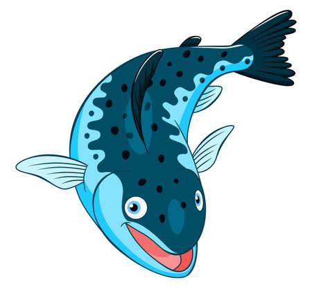 cute cartoon: Cartoon cute salmon Illustration