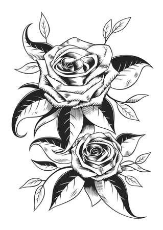 rosas blancas y negras