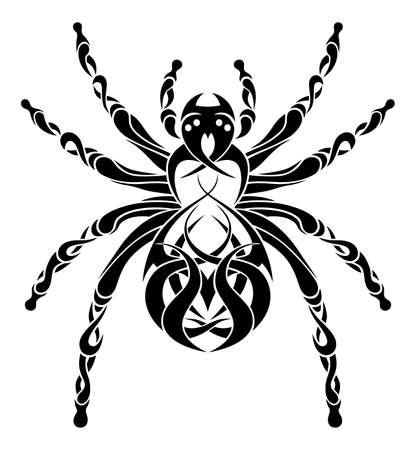 arachnids: Ornamental spider illustration Illustration