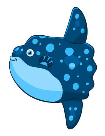 Cartoon cute moonfish