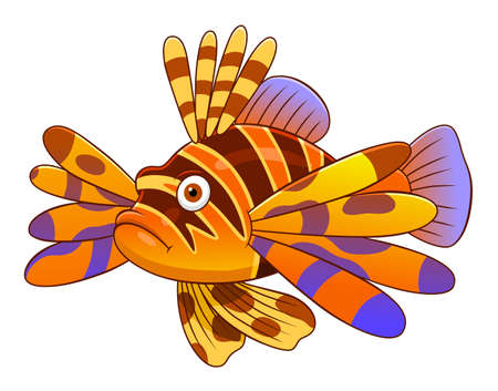 Cartoon cute devil firefish