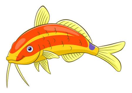 cute cartoon: Cartoon cute goatfish