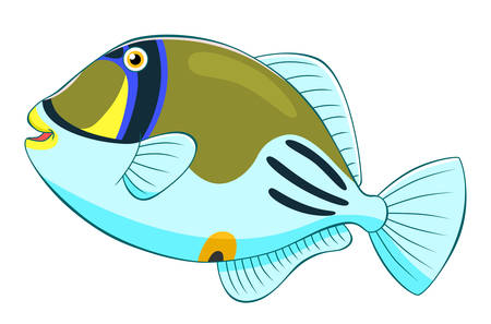 picasso: Cartoon cute picasso triggerfish Illustration