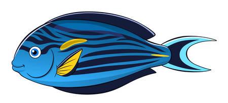 sohal: Cartoon cute sohal surgeonfish