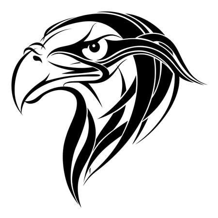 bird  celtic: Vector ornamental eagle head