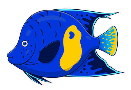 angelfish: Cartoon cute angelfish