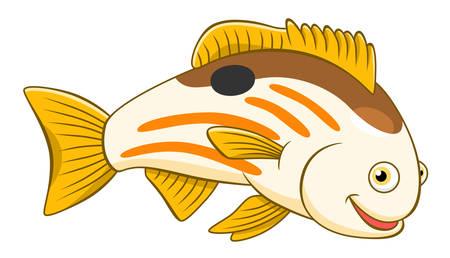 cute cartoon: Cartoon cute blackspot snapper