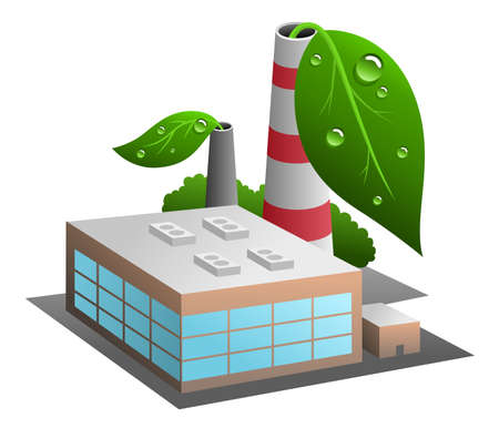ecofriendly: Vector illustration of eco-friendly industry Illustration