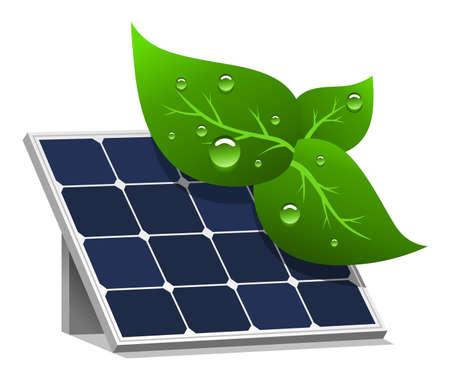 Illustrazione vettoriale di celle solari a basso impatto ambientale