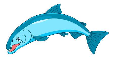 coho: Cartoon cute coho salmon
