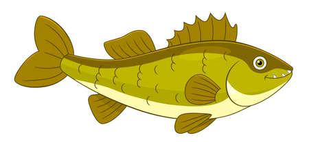 Cartoon cute walleye