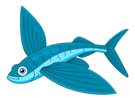 Cartoon mignon poisson volant
