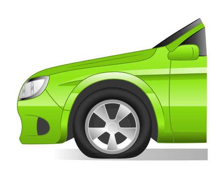 flat tire Illustration