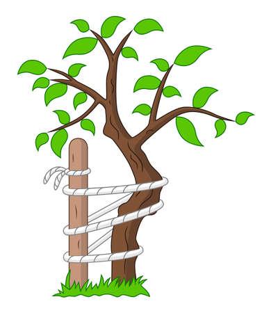 Orthopedic symbol tree of Andry Illustration