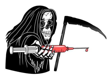Muerte con jeringuilla