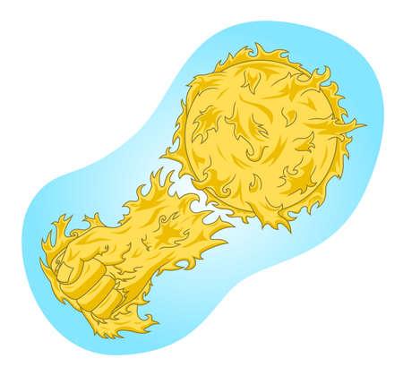 Sunstroke illustration