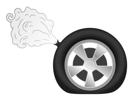 Tyre puncture Illustration