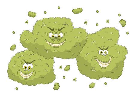 burp: Cartoon stinky cloud Illustration