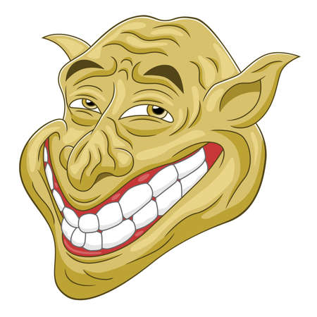 Cartoon troll head Illustration
