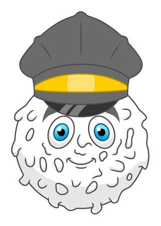 Cartoon policeman leukocyte Illustration