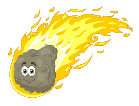 Cartoon comet Illustration