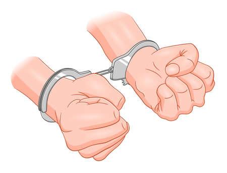 hands in handcuffs
