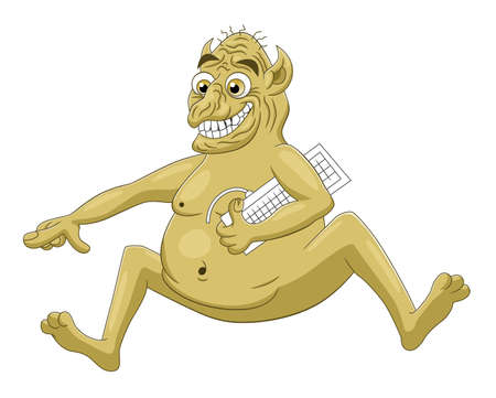 Cartoon internet troll