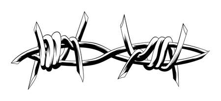 barbed wire Illustration