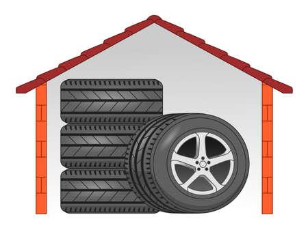 rim: Tyre storage
