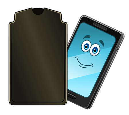 case: Cartoon mobile phone with case