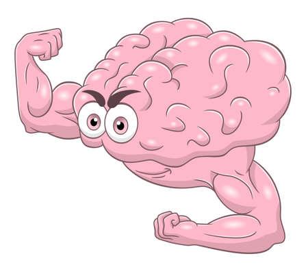 hardy: Strong brain icon. Illustration