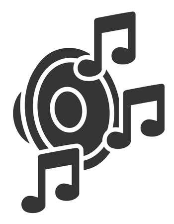Loudspeaker with notes Illustration