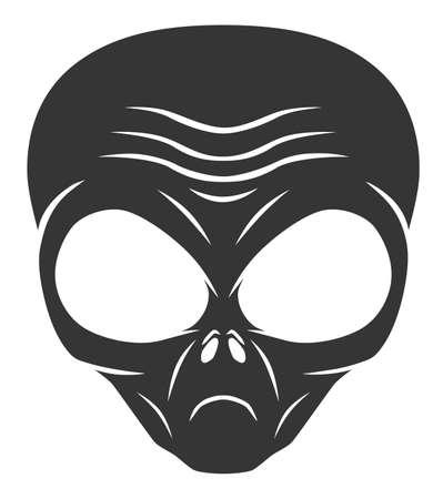Alien head monochrome