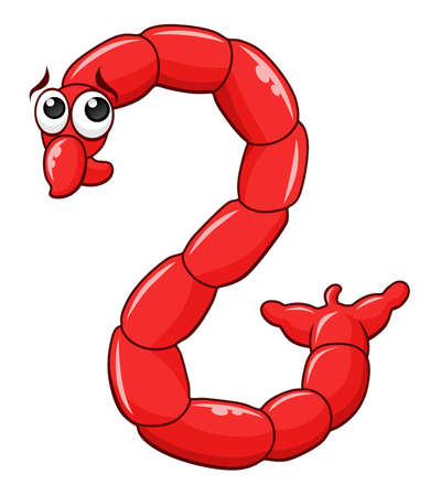 Cartoon blood worm icon. Фото со стока - 95963814