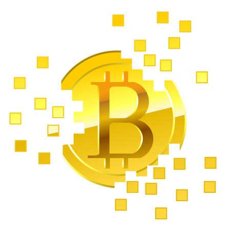 Bitcoin unite illustration.