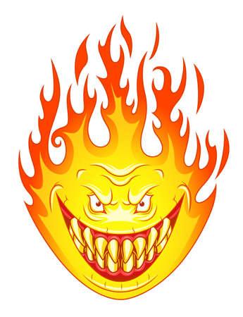 Angry flame Иллюстрация