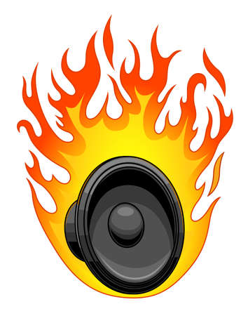Burning loudspeaker