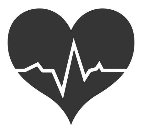 Monochrome heart cardiogram