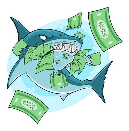 Shark eats money