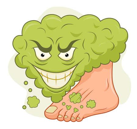 Cartoon stinky feet Vektorové ilustrace