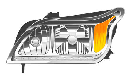 Car headlight illustration