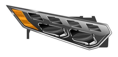 Auto Konzept Scheinwerfer Illustration