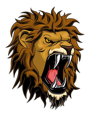 Cabeza de león estilizada Ilustración de vector