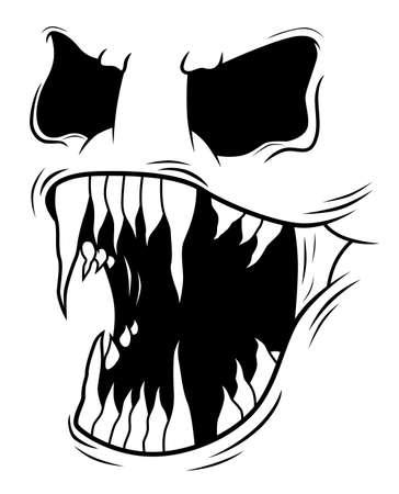 Visage de monstre effrayant