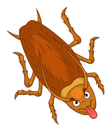 Cartoon lustige Kakerlaken zeigen Zunge